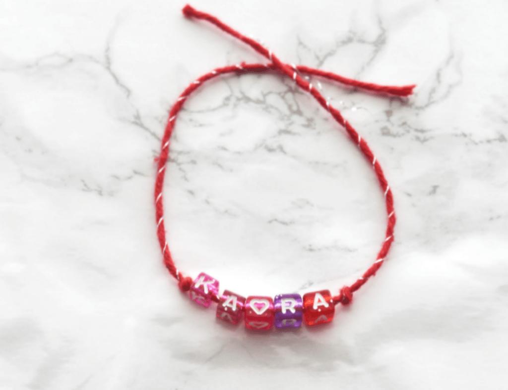 DIY Bracelets - Valentines Friendship Bracelets - At Home With Zan-