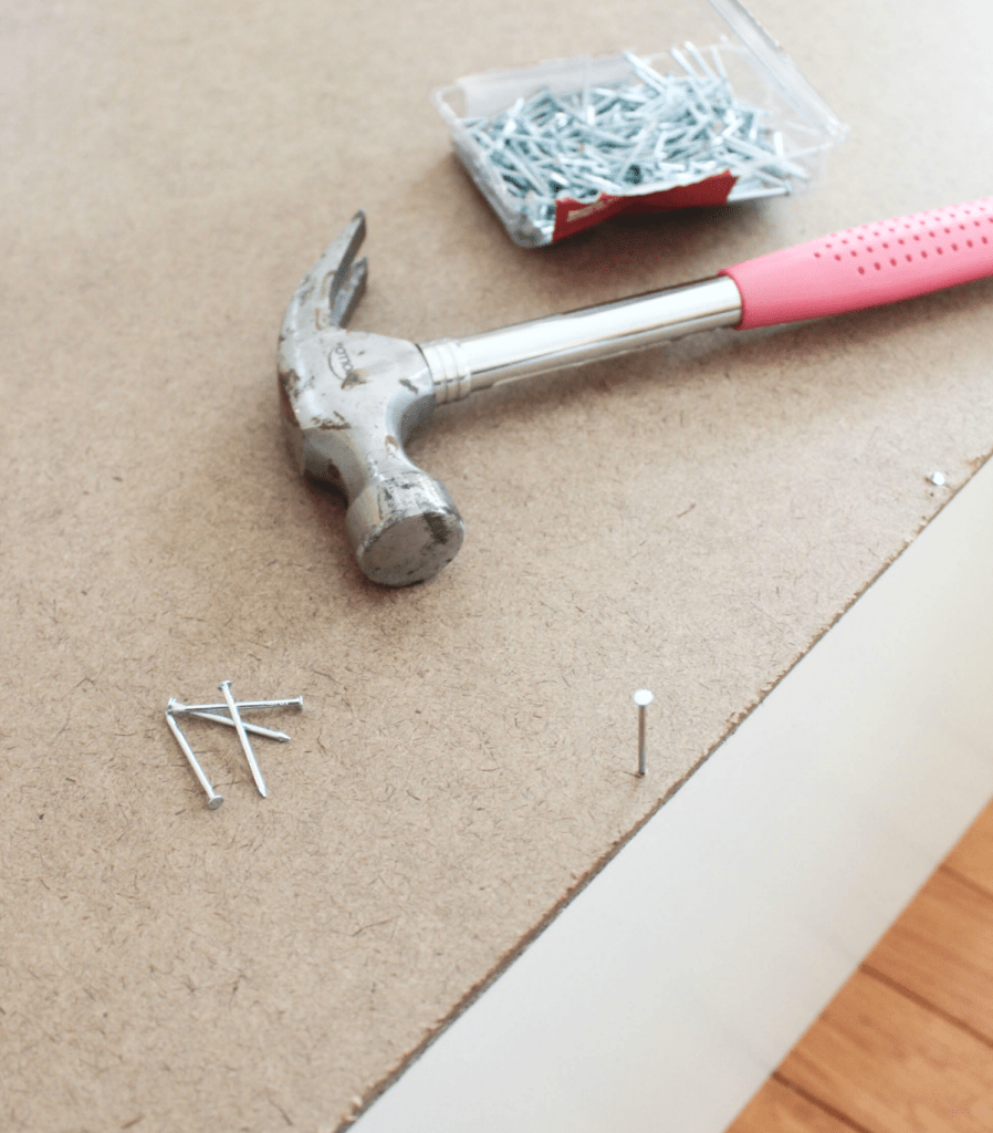 How to Restore a Broken Bookshelf - Cardboard and Nails - At Home With Zan