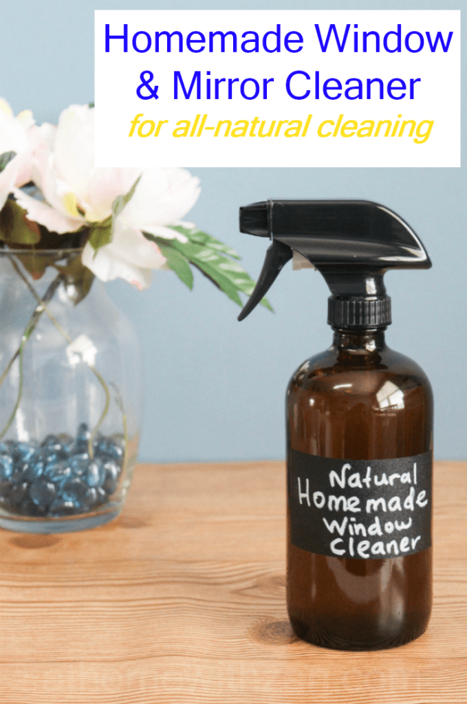 Homemade Window Cleaner - With Vinegar and Lemon Essential Oil - All-Natural Window Cleaner - At Home With Zan-