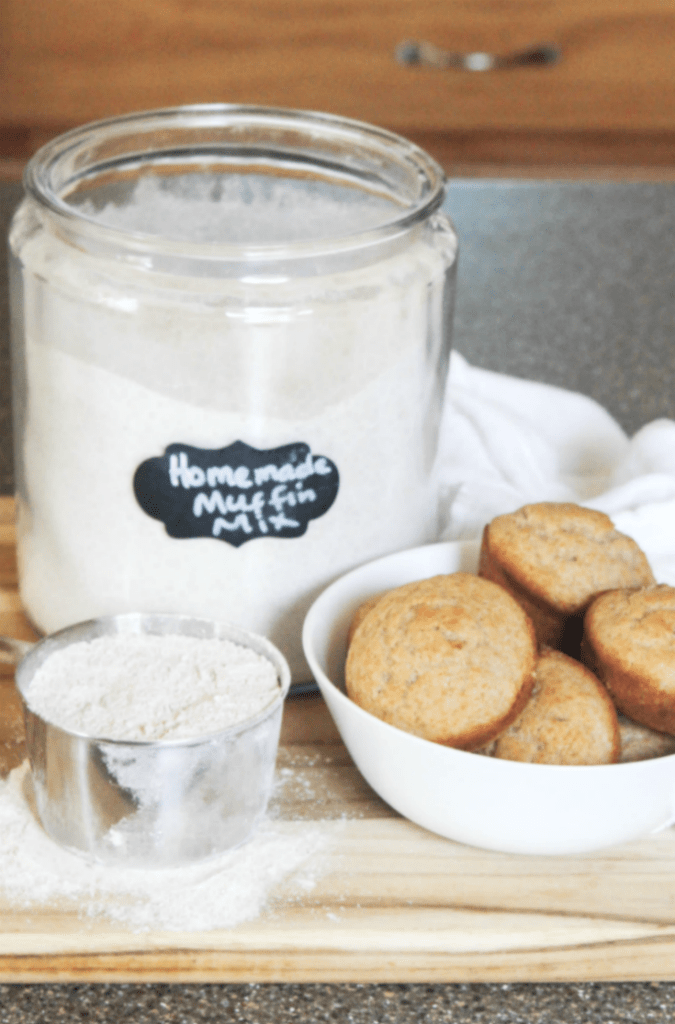 Homemade Muffin Mix - White Wheat Flour and All-Purpose Flour - From At Home With Zan