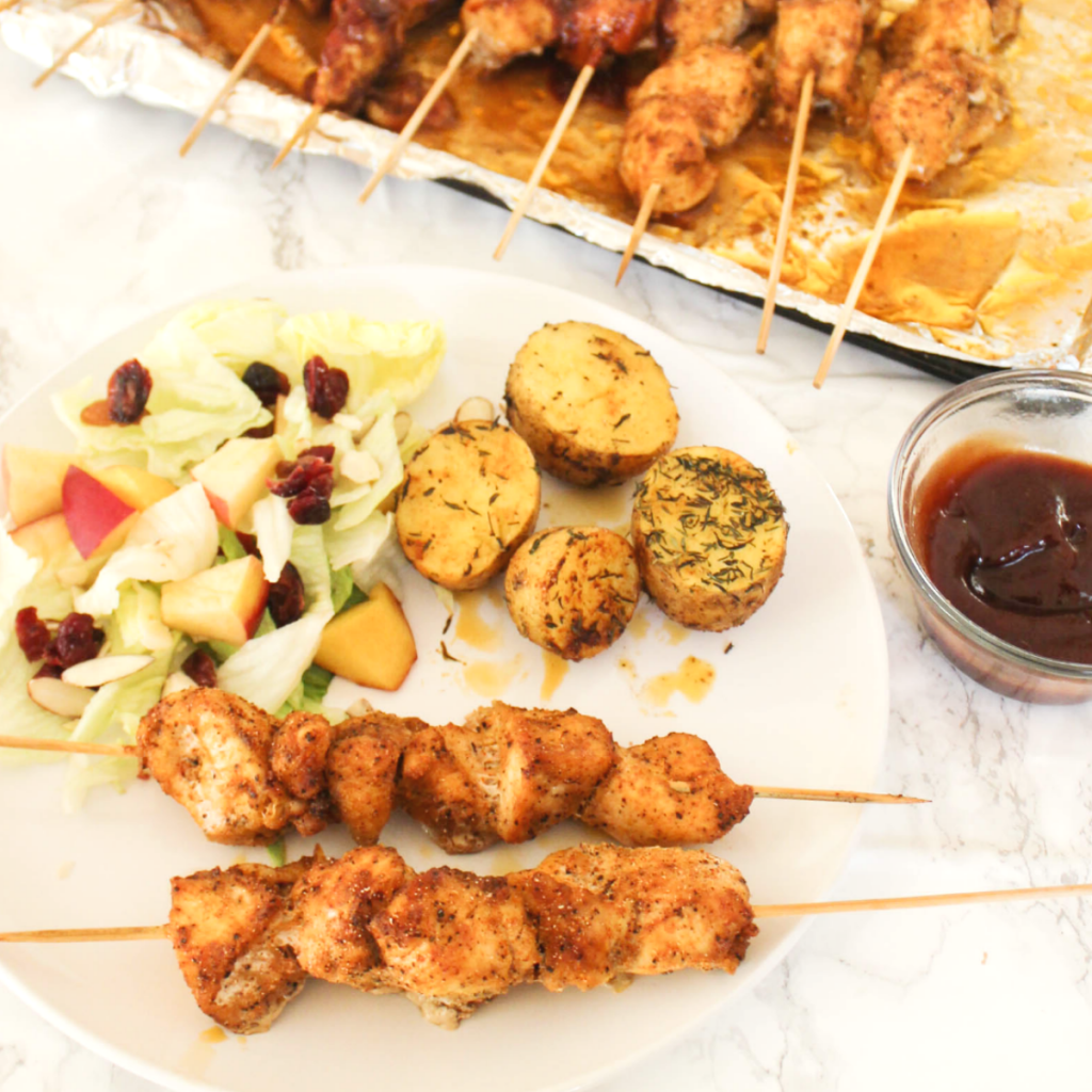 Oven - Baked - Chicken Skewers - Delicious Chicken - At Home With Zan-