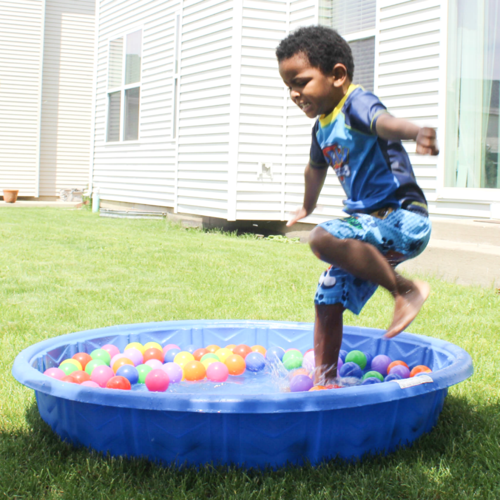 Summer Activities for Kids - Portable Backyard Pool Fun - At Home With Zan-