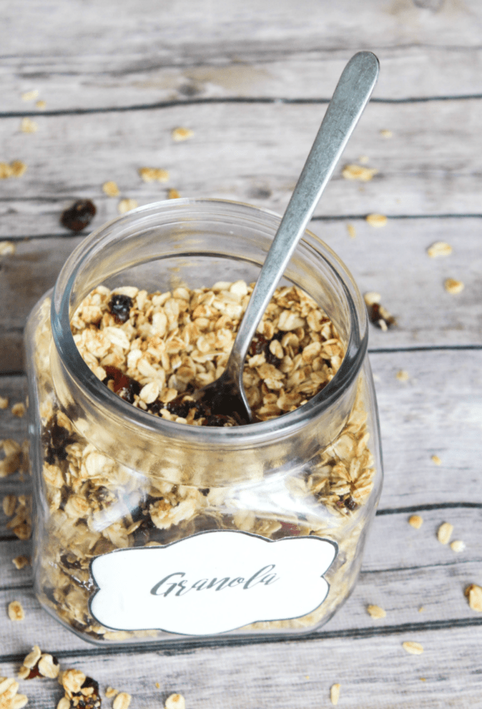 Homemade Granola with Cranberry - Kid Friendly - At Home WithZan-
