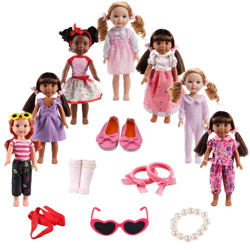 American Girl Doll Clothing and Accessories -14.5 Wellie Wishers Dolls - - Holiday Gift Guide - Holiday Gifts for 3-5 Years Old - At Home With Zan