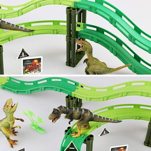 Dinosaur Race Track - Holiday Gift Guide for 3-5 Year Olds - At Home With Zan