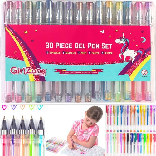 GirlZone Gel Pens - Holiday Gift Guide for 6-8 Year Olds - At Home With Zan