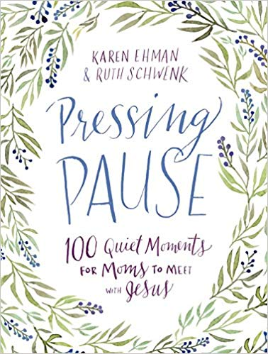 Pressing Pause - 100 Quiet Moments for Moms to Meet With Jesus - Holiday Gift Guide for Moms and Dads - Parents Gifts - Spouse Gifts - At Home With Zan