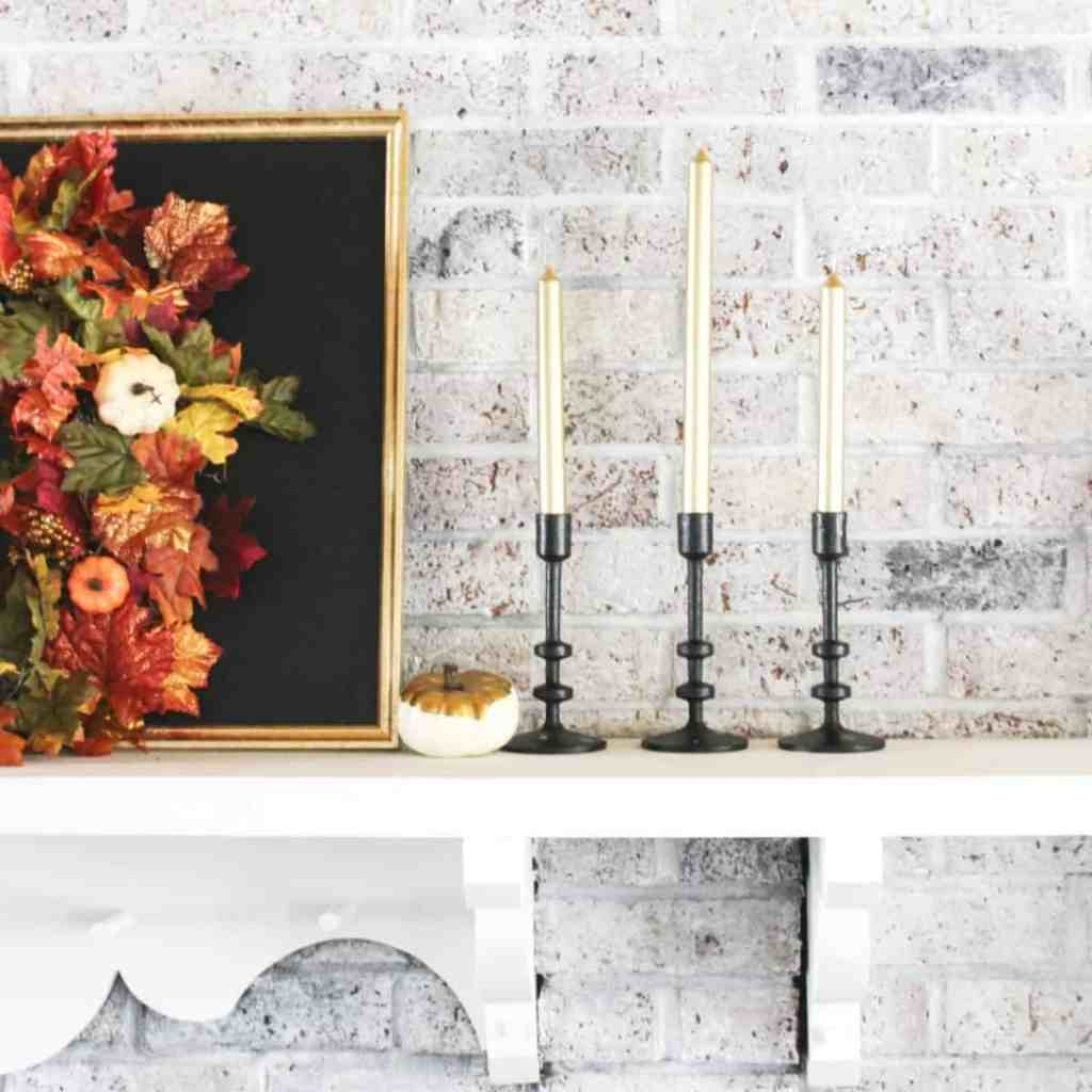 Fall Fireplace and Mantle