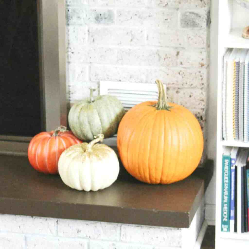 Fall fireplace and mantel