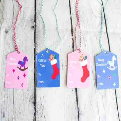 Free Christmas Gift Tags for Kids