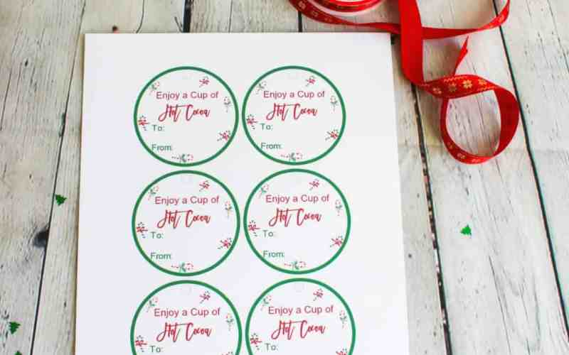 Free Hot Cocoa Gift Tags