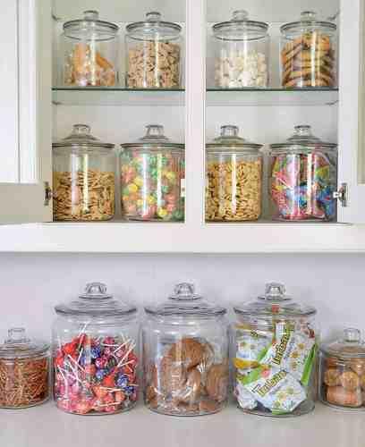 Anchor glass storage jars