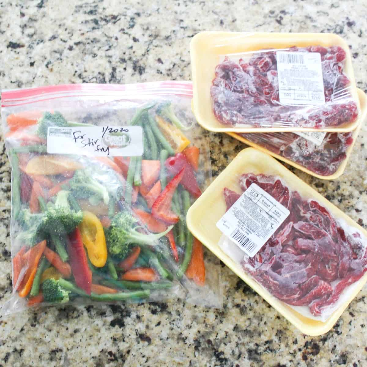 Freezer Stir-Fry Bags