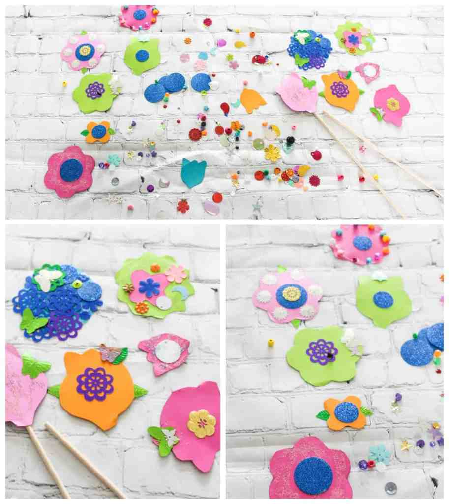 Paper Spring Flowers - Crafts for Kids