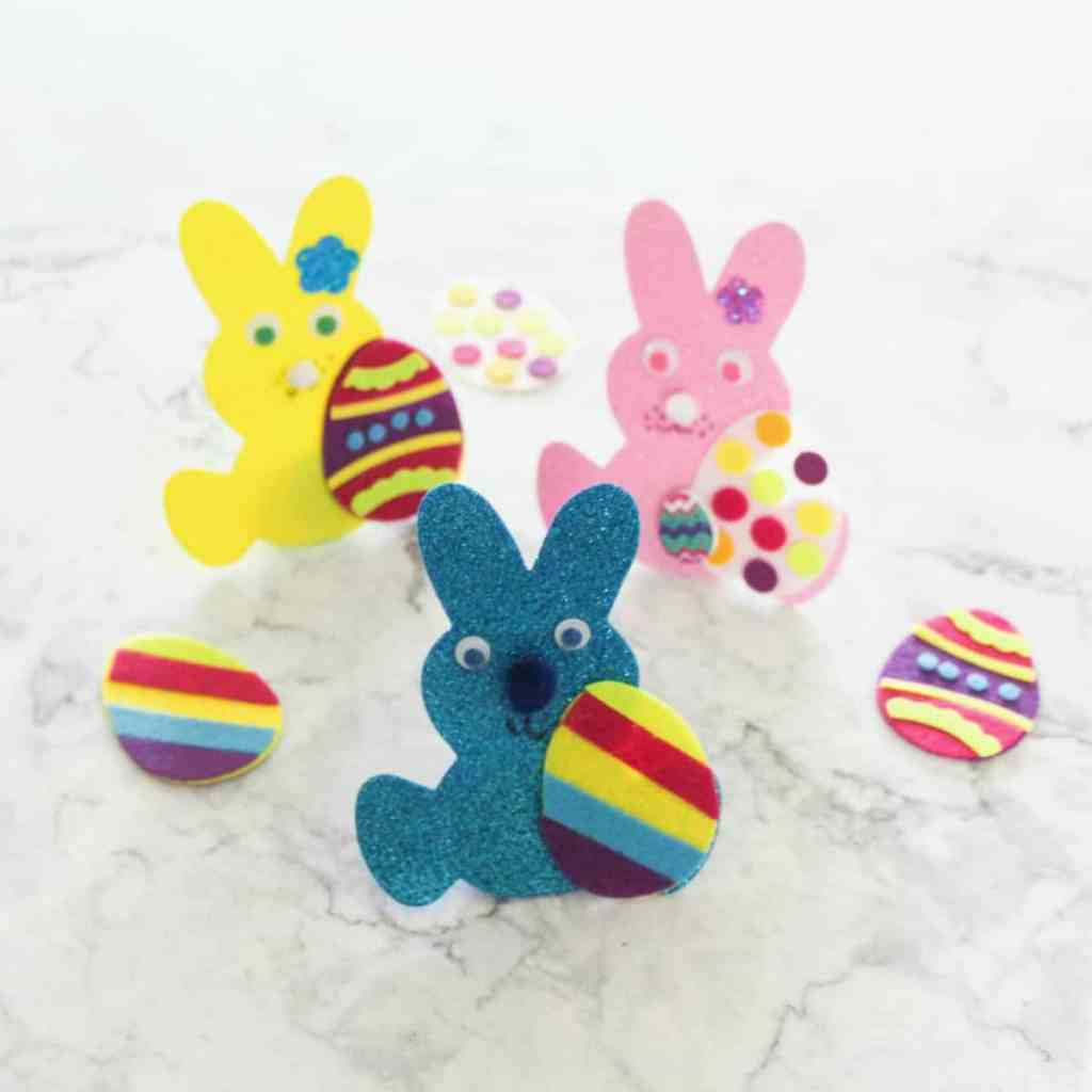 Easter Foam Bunnies