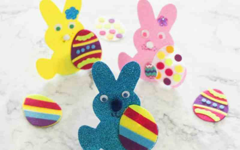 Easter Foam Bunnies – Craft for Kids