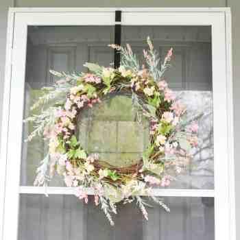 DIY Pastel Spring Wreath - athomewithzan.com