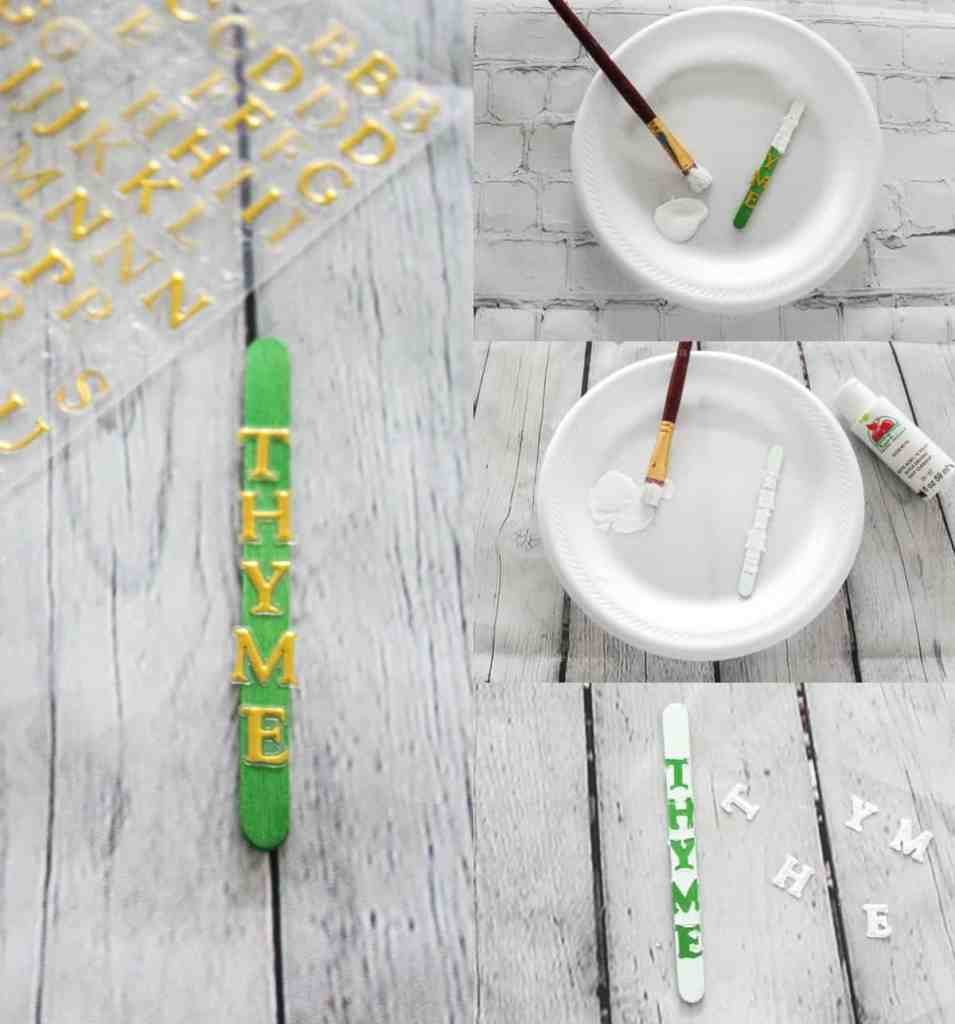 DIY Popsicle Stick Herb Labels