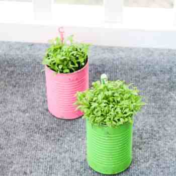 Tin Can Flower Pots Planters