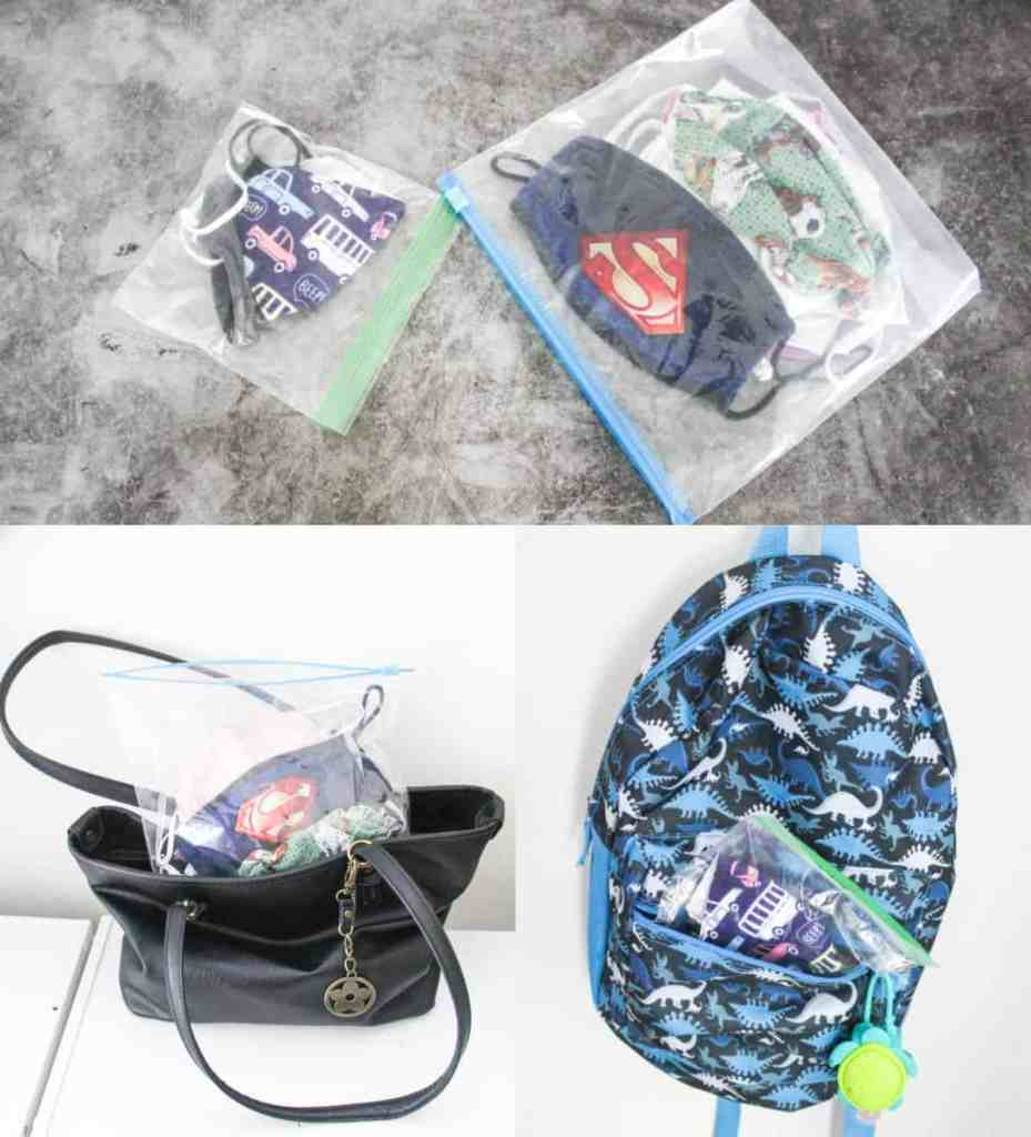 Face Mask Holders and Storage Ideas - Mask Holder for Kids - athomewithzan.com