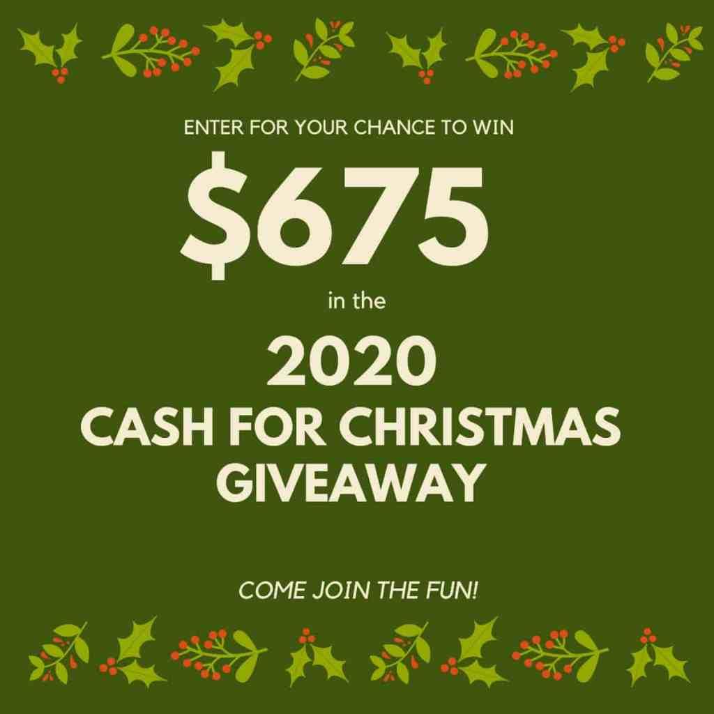 Cash for Christmas Giveaway - athomewithzan.com