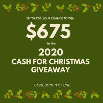 Cash for Christmas Giveaway - athomewithzan.com