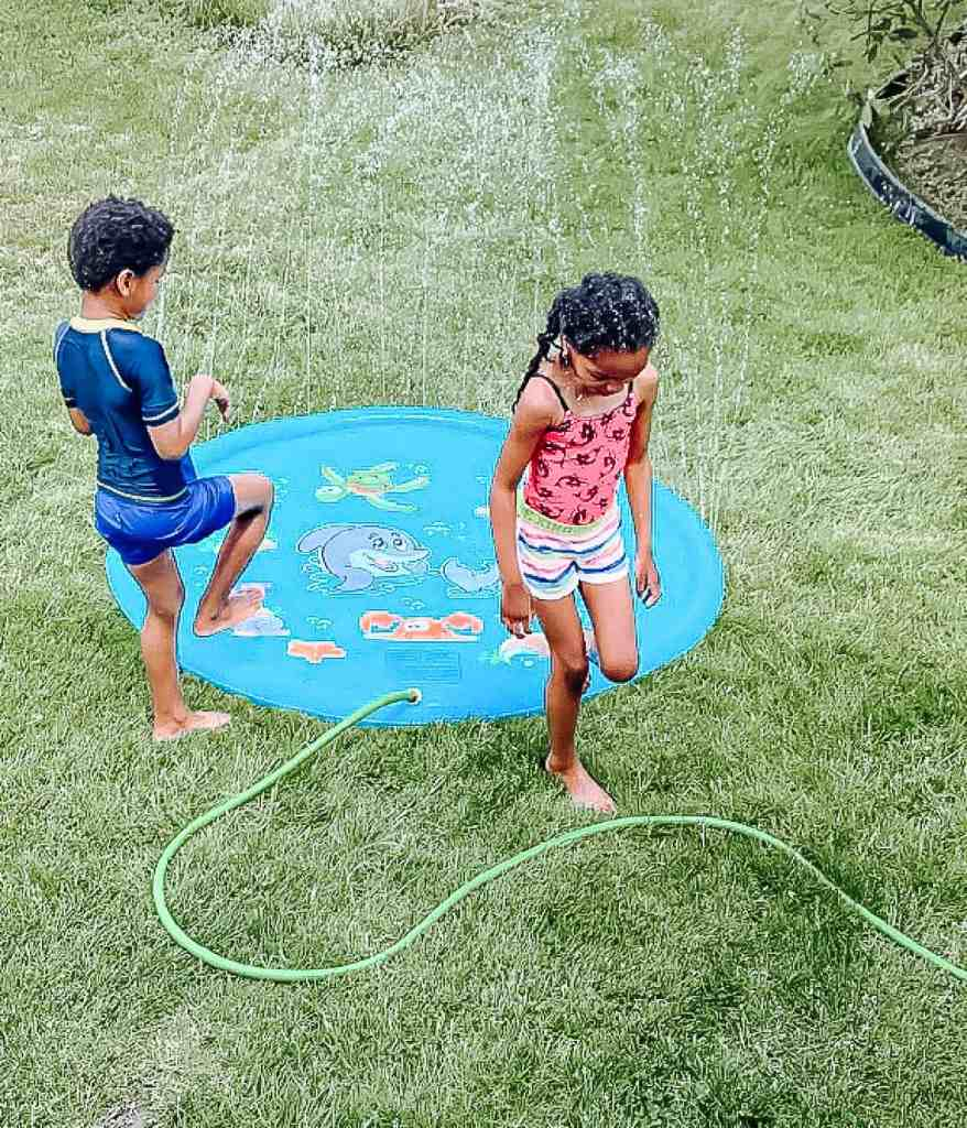Water Sprinkler -Splash Mat For Kids - Water Play Ideas for Kids - Splash Pad - Summer - Sprinkler - Water Sprinkler - Summertime Fun for Kids - athomewithzan (9 (19)