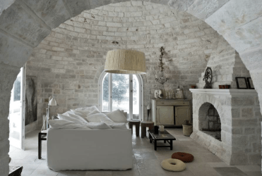 stone modern castle medieval italy interior homes houses interiors palace meets inside italian thoughtful eye walls fireplace architecture country swedish