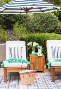 Our Preppy Backyard Lounge Area - A Thoughtful Place