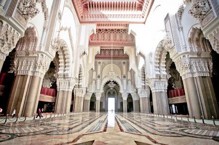 The Grand Interior of the Hassan II Mosque - Casablanca, Morocco