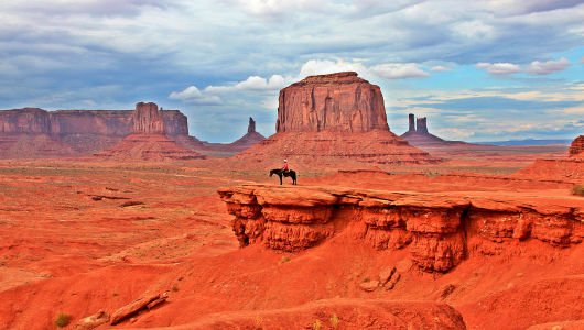 Horseman at John Ford Point - Monument Valley, AZ