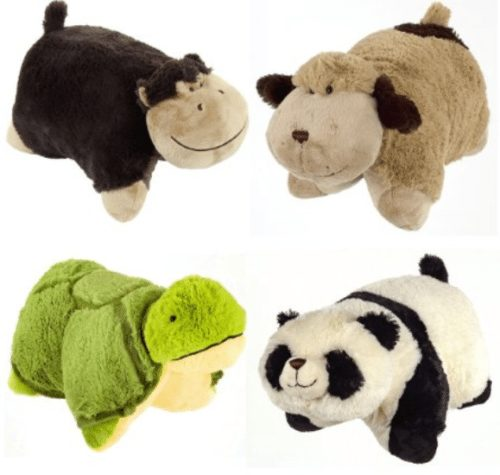 set of 4 pillow pets pee wees stuffed