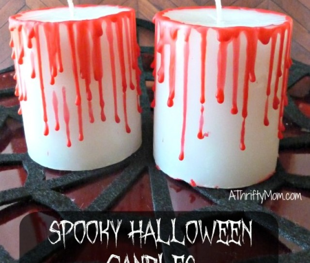 Spooky Halloween Candles Thrifty Halloween Decorating