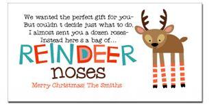 Reindeer Noses Poem Amp Reindeer Feed FREE Printable Gift