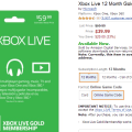 Xbox live gold 12 month membership is normally around 60 right