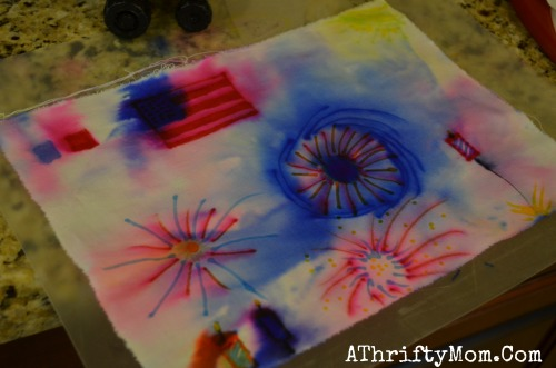 Firework Tie Dye Shirts Made With Sharpie Markers And