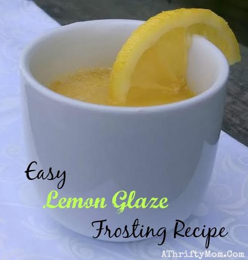 Easy Lemon Glaze Frosting Recipe