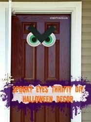 spooky eyes thrifty Halloween decoration, #Halloween, #