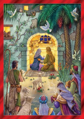 Christian Nativity Themed Advent Calendars 495 595