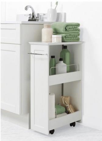 Narrow Cart on wheels  Perfect for craft rooms between dryer and washing machine bathrooms