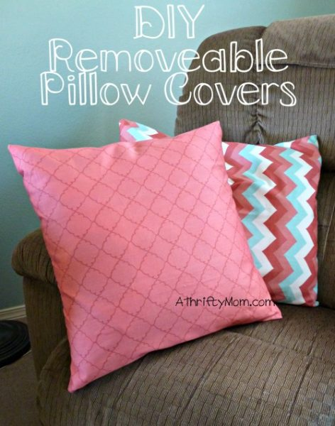 Diy Removable Pillow Covers You Won T Believe How Easy