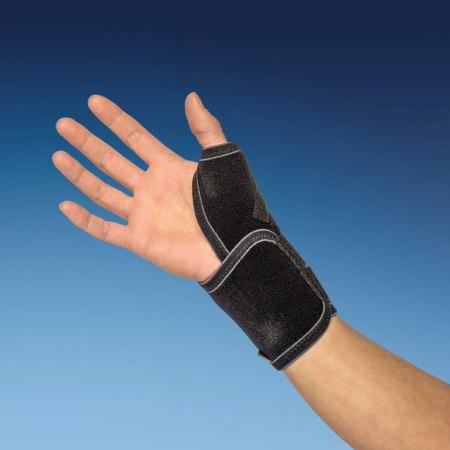 thumb brace with adjustable splint