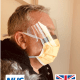 coronavirus face mask with visor & ties, protective face mask, coronavirus face mask, covid 19 face mask
