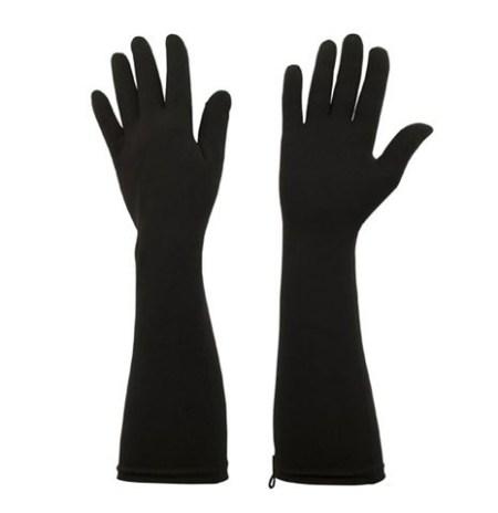 black, protex elbow length protective UV gloves