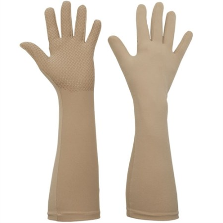 sahara, elbow length protective UV gloves with silicone grip