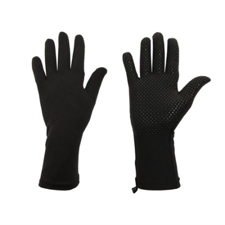 original grip, black wrist length protex gloves for UV and chronic skin disease protection