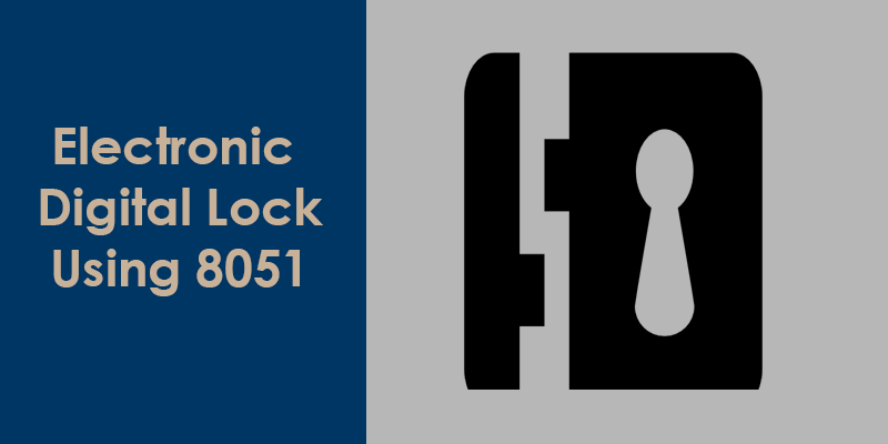 electronic lock using 8051