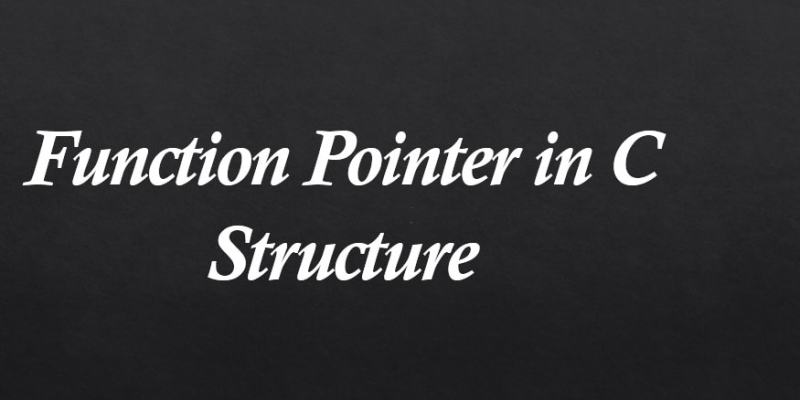 c function pointer in struct