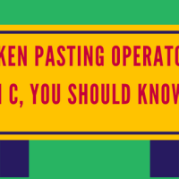 Token Pasting Operator in c