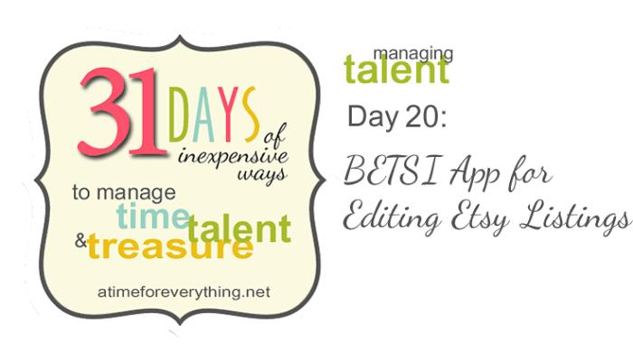 BETSI App for Editing Etsy Listings